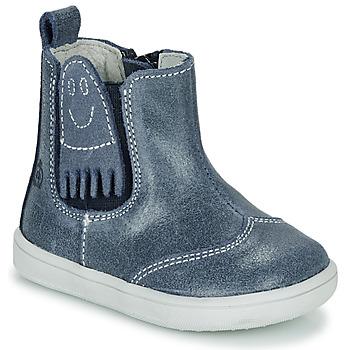 Shoes Boy Mid boots Citrouille et Compagnie LESKIMO Blue