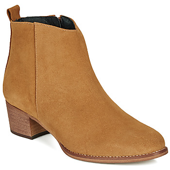 Shoes Women Ankle boots So Size MARTINO Camel