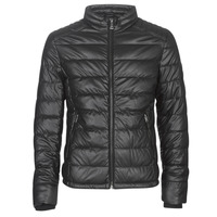 material Men Leather jackets / Imitation le Guess STRETCH PU QUILTED Black