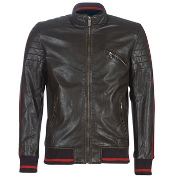 material Men Leather jackets / Imitation le Desigual ANTON Brown