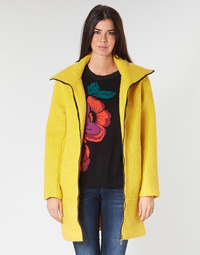 material Women coats Desigual LAND Yellow