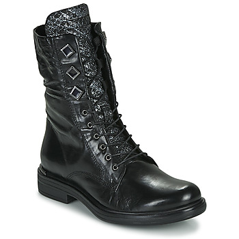 Shoes Women Mid boots Mjus CAFE METAL Black / Python