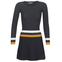 material Women Short Dresses Morgan ROXFA Marine / White / Yellow