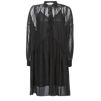 material Women Short Dresses Replay W9525-000-83494-098 Black