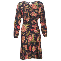 material Women Short Dresses Derhy BANQUISE Black / Multicoloured