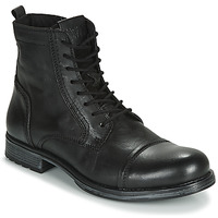 Shoes Men Mid boots Jack & Jones JFW RUSSEL LEATHER Black