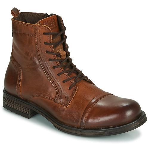 Shoes Men Mid boots Jack & Jones JFW RUSSEL LEATHER Cognac