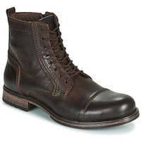 Shoes Men Mid boots Jack & Jones JFW RUSSEL LEATHER Brown