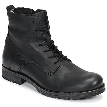 Shoes Men Mid boots Jack & Jones JFW ORCA LEATHER Black