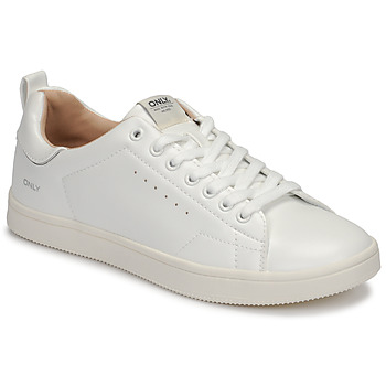 Shoes Women Low top trainers Only SHILO PU White / Silver