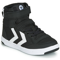 Shoes Children Basketball shoes Hummel STADIL RIPSTOP HIGH JR Black / White
