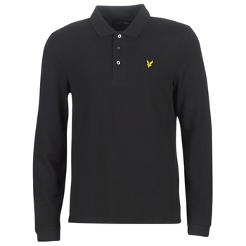material Men long-sleeved polo shirts Lyle & Scott LP400VB-574 Black