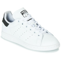 Shoes Children Low top trainers adidas Originals STAN SMITH J White / Black