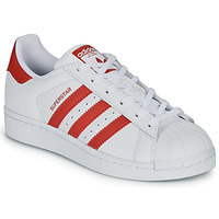 Shoes Children Low top trainers adidas Originals SUPERSTAR J White / Red