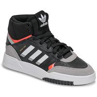 Shoes Boy Low top trainers adidas Originals DROP STEP J Black / Grey