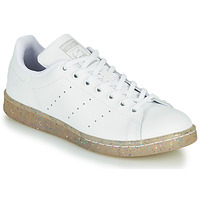 Shoes Girl Low top trainers adidas Originals STAN SMITH J White / Glitter