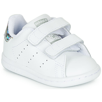 Shoes Girl Low top trainers adidas Originals STAN SMITH CF I White / Silver