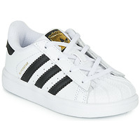 Shoes Children Low top trainers adidas Originals SUPERSTAR I White / Black