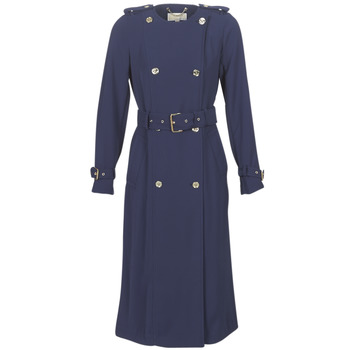 material Women Trench coats MICHAEL Michael Kors COLLARLESS TRENCH Marine