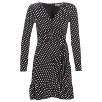 material Women Short Dresses MICHAEL Michael Kors ELV DOT SHRD LS DRS Black