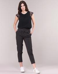material Women 5-pocket trousers Betty London LAALIA Black / White