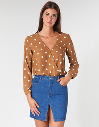 material Women Blouses Betty London LOUISIANA Camel