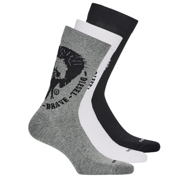 Clothes accessories Men Socks Diesel SKM-RAY-THREEPACK-0EASX-E3843 Black / Grey / White