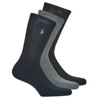 Accessorie Men Socks Polo Ralph Lauren ASX101 CREW W/PP-CREW-3 PACK Marine / Black