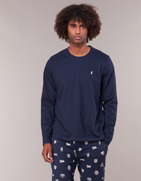 material Men Long sleeved shirts Ralph Lauren L/S CREW-CREW-SLEEP TOP Marine