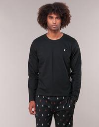material Men Long sleeved shirts Ralph Lauren L/S CREW-CREW-SLEEP TOP Black