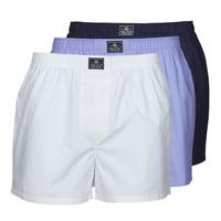 Underwear Men Boxers Ralph Lauren OPEN BOXER-3 PACK-BOXER White / Blue / Marine