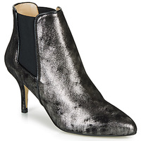 Shoes Women Ankle boots Ippon Vintage SILVER LAKE Black / Silver