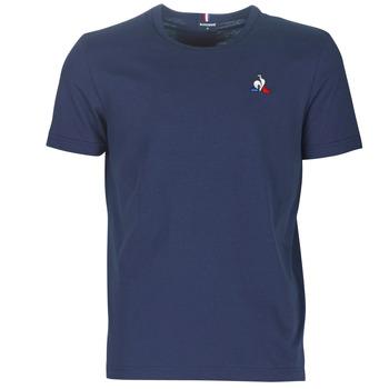 material Men short-sleeved t-shirts Le Coq Sportif ESS TEE SS N°2 M Blue / Marine
