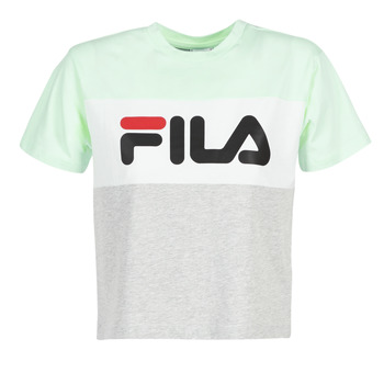 material Women short-sleeved t-shirts Fila ALLISON TEE Blue / Grey