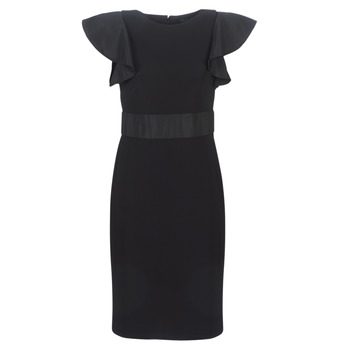 material Women Short Dresses Lauren Ralph Lauren JERSEY SLEEVELESS COCKTAIL DRESS Black