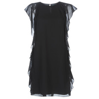 material Women Short Dresses Lauren Ralph Lauren RUFFLED GEORGETTE DRESS Black