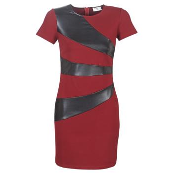 material Women Short Dresses Moony Mood LIVEO Bordeaux / Black