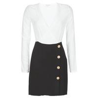 material Women Short Dresses Moony Mood LUCE Black / White