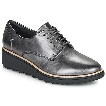 Shoes Women Derby shoes Clarks SHARON NOEL Silver