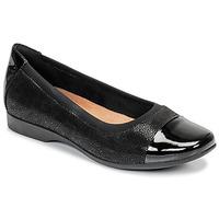 Shoes Women Ballerinas Clarks UN DARCEY CAP Black