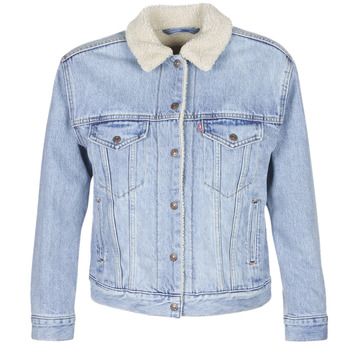 material Women Denim jackets Levi's EX-BF SHERPA TRUCKER Blue