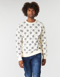 material Men sweaters Scotch & Soda CREWNECK SWEAT WITH LOGO ALL-OVER PRINT White
