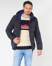 material Men Duffel coats Scotch & Soda CLASSIC HOODED PRIMALOFT JACKET Marine