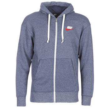 material Men sweaters Nike M NSW HERITAGE HOODIE FZ Marine