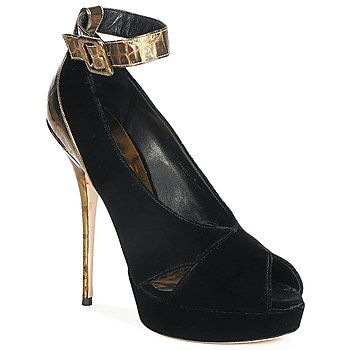 Shoes Women Court shoes Sebastian VELLURE Black / Gold