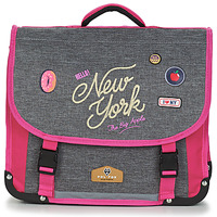 Bags Girl Satchels Rentrée des classes POL FOX NEW YORK CARTABLE 38 CM Grey / Pink