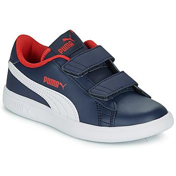 Shoes Boy Low top trainers Puma SMASH V2 L V PS Marine