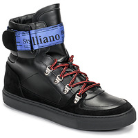 Shoes Men High top trainers John Galliano 8526 Black