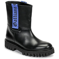 Shoes Men Mid boots John Galliano 8560 Black / Blue