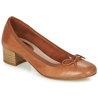 Shoes Women Ballerinas André POEME Camel